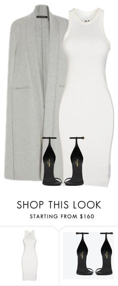 """Untitled #104"" by pariszouzounis ❤ liked on Polyvore featuring Sally Lapointe, DRKSHDW and Yves Saint Laurent"