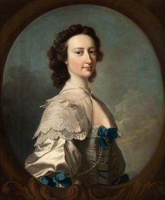 Barbara Bagot by Thomas Hudson   Hunterian Art Gallery, University of Glasgow Date painted: 1749