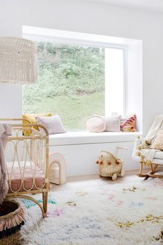 Bright whites and soft pinks—House By Three Birds Renovations x Peppa Hart. Nursery Curtains, Nursery Decor, Bedroom Decor, Nursery Room, Bedroom Ideas, Three Birds Renovations, Haus Am See, French Country Bedrooms, Pink Houses