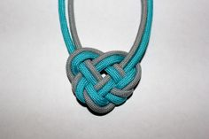 Celtic Heart knot paracord necklace Made by by ParacordianEffects, $10.99