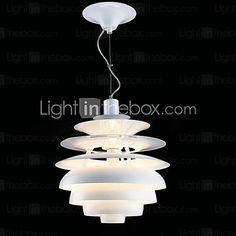 60W de aluminio Contemporáneo de luz colgante de Blanco 2017 - $5580.69
