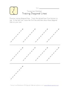 FREE 6 Trace Line  Writing Preparation Worksheets