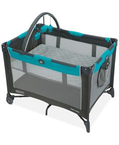Bring comfort and fun for your little one wherever you go with this ultra-convenient, quick set-up travel Pack 'n Play On-The-Go playard from Graco. | Imported | Reach-through bassinet folds with play
