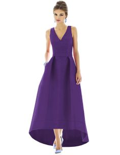 This Alfred Sung gown looks like it was plucked right off the runway.  Also, how great is the full length low high hemline?
