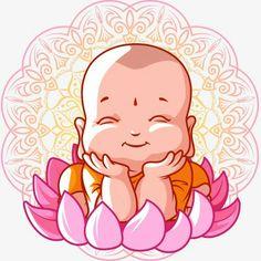 สติ๊กเก้อเณรน้อย Buddha Drawing, Buddha Painting, Baby Buddha, Little Buddha, Buddha Doodle, Buddha Art, Mandala Art, Buda Wallpaper, Buddha Thoughts