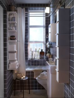 With Storage That Uses The Walls Efficiently A Small Bathroom Can Do More
