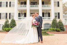 Wedding At The Inn at Willow Grove in Orange, Virginia with accents of magenta and sangria color tones. Photos by Katelyn James Photography