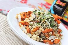 Carrot Ginger Coconut Sesame Rice by Peachy Palate