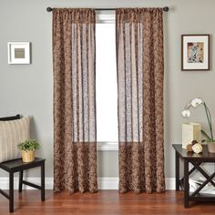Colchester Ave Ballet Rod Pocket Curtain Panel