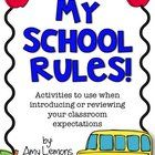 Looking for your students to really grasp those classroom rules?  These activities will help jumpstart your school year, and even provide reinforce...