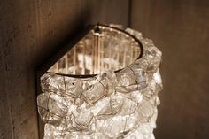 Recycled glass crystal wall Sconce. Modifications available