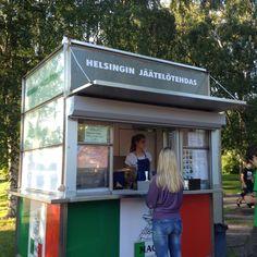 Helsingin Jäätelötehdas, kesäkioski Taivallahti, Helsinki Ordinary Lives, Kiosk, Capital City, Helsinki, Amazing Architecture, Up, Country, Outdoor Decor, Cafes