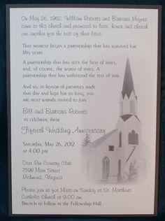 Custom 50th Wedding Anniversary Panel Pocket by FanninsFolly