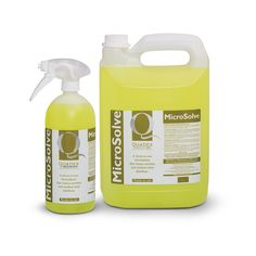 CLEANS, SANITISES AND DISINFECTS IN ONE  MicroSolve provides a three-in-one formulation that cleans, sanitises and disinfects. MicroSolve is specifically formulated for conditions where natural oils, grease and petroleum jelly can be problematic. MicroSolve works effectively to eliminate all residues.  MicroSolve is highly effective for the:- * Veterinary Industry * Beauty Industry * Hairdressing Industry * Hospitality Industry  Available in: 1 Litre - Trigger Spray 5 Litre - Bulk