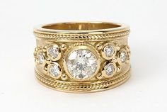 gold thick.ring with stones - Google Search