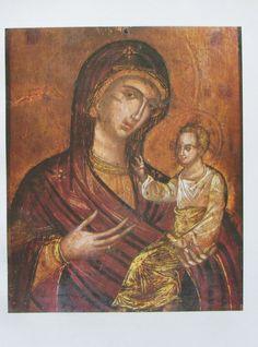 GOTTESMUTTER HODIGITRIA 23,5x31 Reproduktion Kunstdruck Spätbyzantinisch