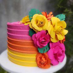 Flamingo Birthday, Luau Birthday, Flamingo Party, Aloha Party, Luau Party, Pretty Cakes, Beautiful Cakes, Bolos Pool Party, Hawaiian Theme Cakes