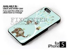 cute elephant and owls case for iPhone 4/4S iPhone 5 Galaxy S2/S3/S4 | FixCenter - Accessories on ArtFire