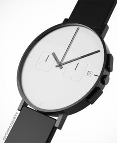 Check this out on leManoosh.com: #Black #Geometry #Minimalist #square #Watch #White