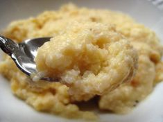 Paula Deen's Baked Garlic Cheese Grits - I am not a fan of PD's recipes normally, but I have made these more times than I can count and they are really good. Use the best quality cheese you can afford, and make sure one is SHARP cheddar, it does make a difference. It makes a HUGE 9x13 pan full, so I usually cut the recipe in 1/2 unless taking to an event.