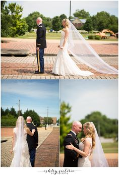 First Look | Old Bank Street Decatur, AL Wedding Portraits | Military Army Wedding | View more: http://www.ashleyvictoriaphotographyblog.com/2013/06/06/a-vintage-faith-chapel-magnolia-room-wedding-caitlin-eric-are-married/