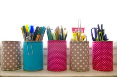ToJaLuNiBo...kreativ sein macht mich froh!: DIY - Konservendosen im Stoffbezug