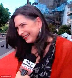 Pamela Rabe on the Red Carpet of the AACTAs 2015