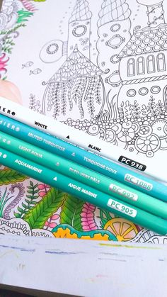 Coloring Tips, Leaf Coloring, Adult Coloring Pages, Coloring Books, Colored Pencil Tutorial, Colored Pencil Techniques, Types Of Pencils, Coloured Pencils, Colouring Techniques