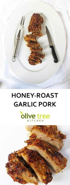 A juicy honey-roast garlic pork fillet with a super tasty honey, mustard and garlic marinade!