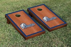Drake Bulldogs Rosewood Cornhole Bag Toss Set
