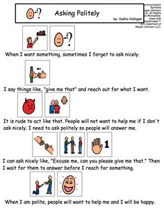 Using Language to Get Attention Appropriately {ie. teaching interrupting} by theautismhelper.com