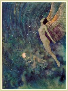 Edmund Dulac Israfel [Except I don't like the face of the angel.]
