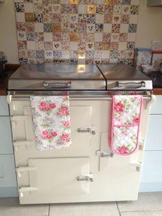 Welbeck vintage patchwork tiles, Everhot and Cath Kidston - my kitchen.