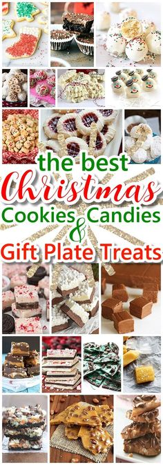 The BEST Christmas Cookies, Fudge, Candy, Barks and Brittles Recipes - Favorites for Holiday Treats Gift Plates and Goodies Bags! - Dreaming in DIY #christmascookies #christmascandies #christmastreats #christmasrecipes