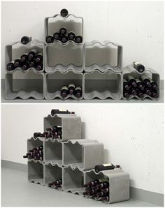 An useful and convenient wine rack design.