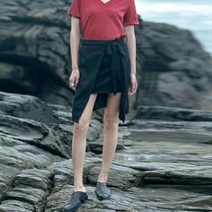 Linen asmmetric skirt | SKU: LininB059 |