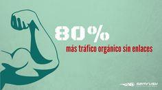 80% más tráfico orgánico sin enlaces