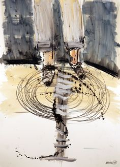Oracle  30 x 22 in. Ink, watercolor, pencil and crayon on Fabriano paper