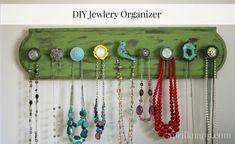 DIY Jewelry  Organizer #diyjewelry