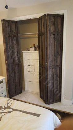"BI-FOLDING ......Custom Sliding Barn Doors. Made to fit your style! ""Interior / Exterior Barn Doors"" TBS Barn Doors"