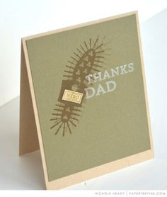 Thanks Dad Card by Nichole Heady for Papertrey Ink (May 2017)