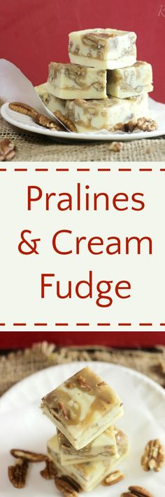 this recipe seems to be very popular.  has been repined so many times...Pralines & Cream Fudge RoseBakes.com  Oh this looks delicious..   Have to make It