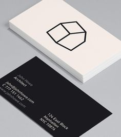 I Draw Houses: if stark minimalism is the style you're looking to show to prospective clients, then these Architect Business Cards will suit you down to the ground(floor!). #moocards #businesscard