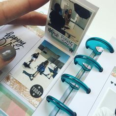 """LOVE how my little flip-up gives me space for 3 pictures instead of 1 in my Happy Planner™! Trying to gain some more """"real estate"""" without too much bulk. @the_happy_planner #thehappyplanner"""