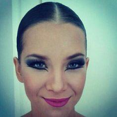 Dance competition makeup
