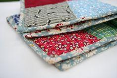 a patchwork quilt for dolls - gypsy forest handmade www.gypsyforest.com