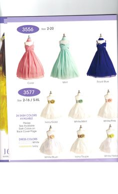 Of all the New Styles my Daughters Favorite is the Royal Blue one on this page. #GirlsDresses