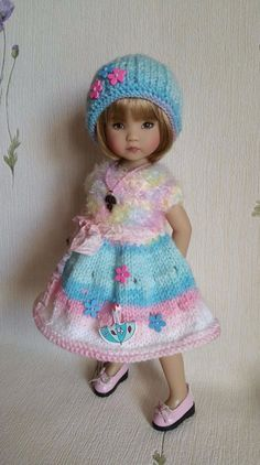"""The outfit for doll 13"""" Dianna Effner Little Darling. Hand made. 