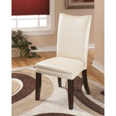 Signature Design by Ashley Charrell Ivory Faux Leather Dining Chair (Set of 2) | Overstock™ Shopping - Great Deals on Signature Design by As...