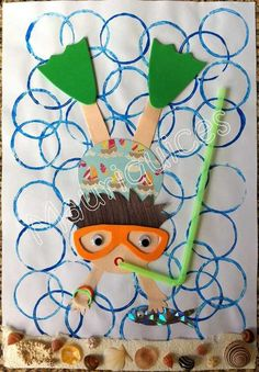 Ocean Crafts for Kids: hundreds of ocean themed ideas Kids Crafts, Sea Crafts, Summer Crafts, Summer Art, Projects For Kids, Arts And Crafts, Paper Crafts, Family Crafts, Beach Crafts For Kids